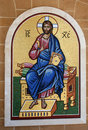 Religious tiled mosaic Stock Photography
