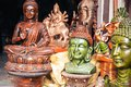 Religous buddah statues for sale at a home decor market in New Delhi India Royalty Free Stock Photo