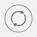 Reload refresh rotation loop pictogram. reload icon vector, solid illustration, pictogram isolated on gray.