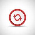 Reload sign. Color arrow icon.