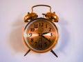 Reloj viejo en la pared Imagen de archivo libre de regalías