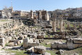 The remainings of the temple of jupiter in baalbek lebanon Royalty Free Stock Photography