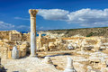 The remains of an ancient and magnificent greek temple on Cyprus Royalty Free Stock Photo