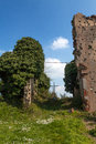 Remains of the church of san martino castel pietro terme italy Royalty Free Stock Image