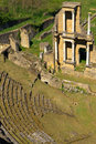 Remains do Amphitheatre romano em Volterra Fotos de Stock