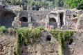 Remains enormous destroyed by a volcano vesuvius city pompeii Stock Photo