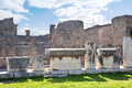 Remains enormous destroyed by a volcano vesuvius city pompeii Royalty Free Stock Image