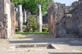 Remains enormous destroyed by a volcano vesuvius city pompeii Royalty Free Stock Photos