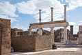 Remains enormous destroyed by a volcano vesuvius city pompeii Stock Photography