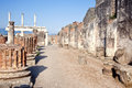 Remains enormous destroyed by a volcano vesuvius city pompeii Stock Images