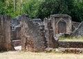 Remains of  Gede in Kenya, Royalty Free Stock Photo