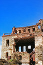 Remains of a house after an earthquake Royalty Free Stock Photography