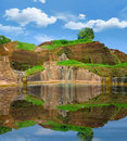 Remains of the palace pool on Sigiriya Stock Image