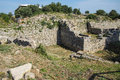 Remains of the walls of troy possibly priam s city iliad turkey Royalty Free Stock Image