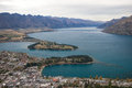 The remarkable range and lake wakatipu queenstown new zealand Stock Photography