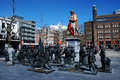 Rembrandt square amsterdam night watch Stock Image