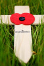 Remembrance cross Royalty Free Stock Photo