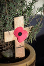 Remembrance Crucifix. Royalty Free Stock Images
