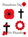 Remembrance day poppies a collection of for Royalty Free Stock Photo