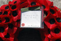 Remembrance day poppy wreath Stock Photo
