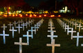 Remembrance park in levin with white cross to remember the lost Stock Photography