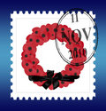Remembrance stamp with date vector Royalty Free Stock Photos