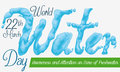 Reminder Date for with Liquid Text for World Water Day, Vector Illustration