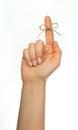 Reminder string around finger