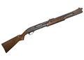 Remington combat shotgun u s on a white background Stock Image