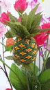 Remnant pineapple flower from of cloth handmade Royalty Free Stock Image