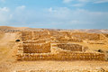 Remnant of roman barracks in desert an ancient war camp negev near avdat Royalty Free Stock Photography