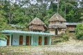 Remote amazon jungle lodging a with only the very basic amenities inside of the edge of the accessible only by a short walk Royalty Free Stock Photography