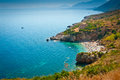 A remote beach in zingaro nature reserve sicily italy Stock Images