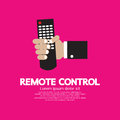 Remote control hand holding a vector illustration Royalty Free Stock Images