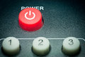 Remote control power button Royalty Free Stock Photo