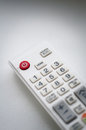 Remote controler closeup of white tv Royalty Free Stock Photos