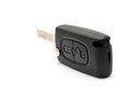 Remote key care black car placed on a white background Royalty Free Stock Photo