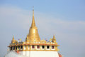 Remote landscape of Thail's gold pagoda landmark Stock Photos