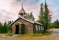 Remote log church in Alaska Royalty Free Stock Photo