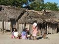 Remote Malagasy village Stock Image