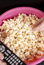 Remote popcorn Stock Photo