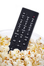 Remote in popcorn Stock Image