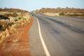 Remote road in australian desert Royalty Free Stock Photo