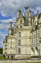 Renaissance castle of Chambord in Loir et Cher Royalty Free Stock Images