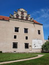 Renaissance castle at telc czech republic Royalty Free Stock Photo