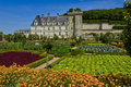 Renaissance castle of villandry france the Royalty Free Stock Photography
