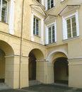 Renaissance courtyard