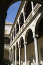 Renaissance courtyard of Toledo Museum Royalty Free Stock Photo