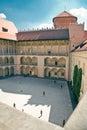Renaissance Courtyard of Wawel Castle in Krakow