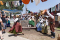 Renaissance Fair laundry duty Stock Images